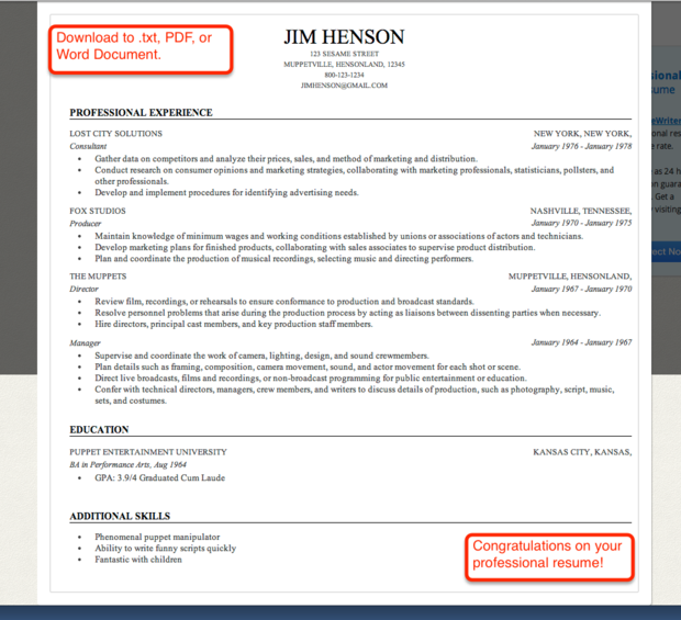 resume builder comparison genius linkedin labs free professional ...