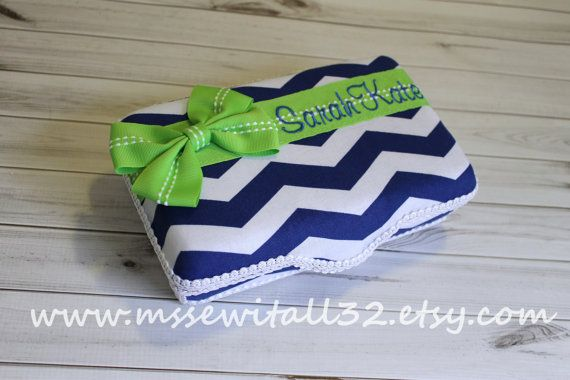 You Design It  Chevron  Medium Wipes Case / School by MsSewItAll32