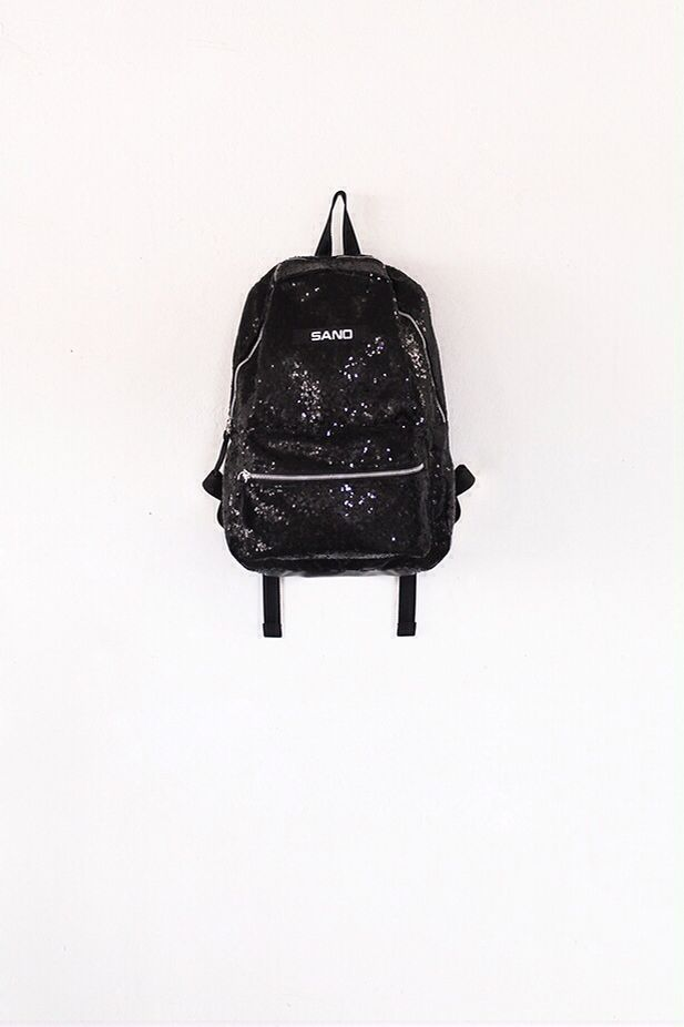 Sequins black bagpack
