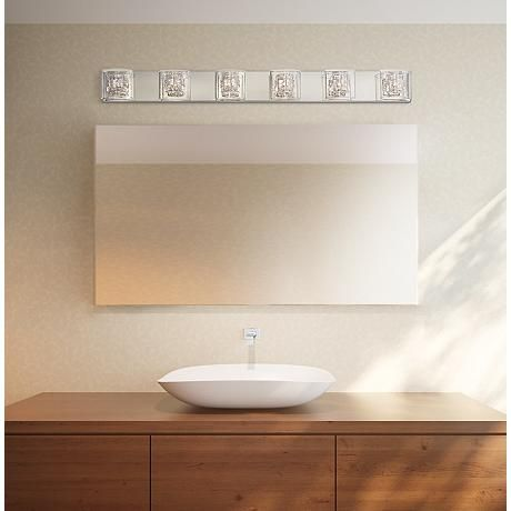 Possini Euro Design Wred Wire 47 3 4 Wide Bathroom Light