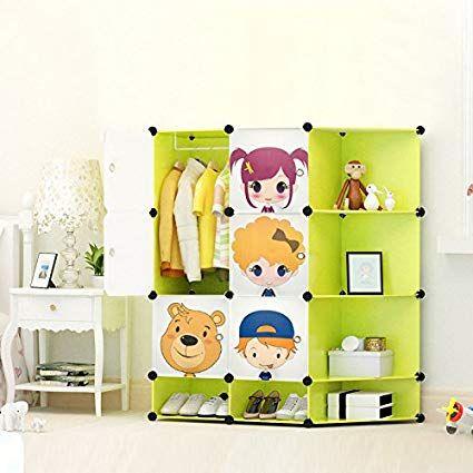 New Kids 2017 Wardrobe Childrens Storage Cabinet Bo Character Design Shoes Corner Cubes Pink