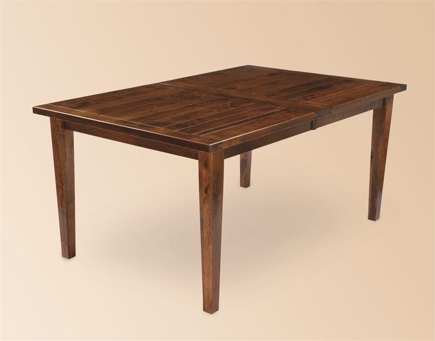Fresno Amish Plank Rustic Dining Table   Amish furniture ...