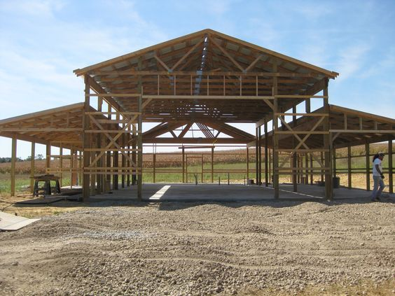 Pole barn house plans with buildings on pinterest and some pillar design also rh no