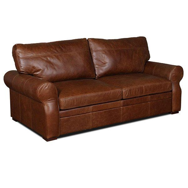 Darlton Cerato Brown Leather Sofa Two Seater Front View