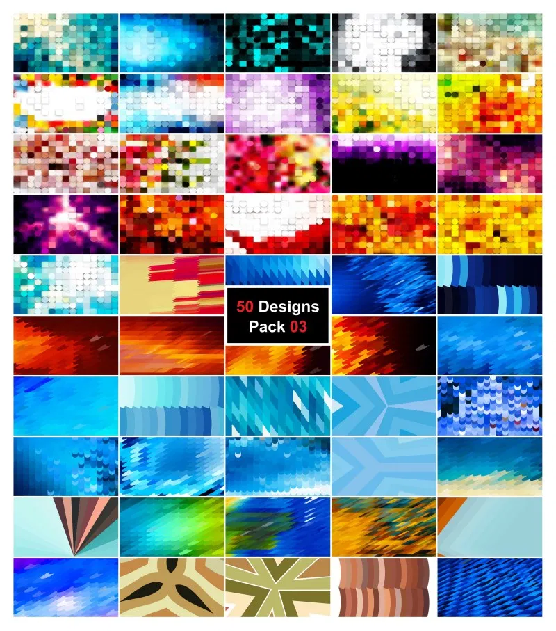 50 Abstract Geometric Shapes Background Vector Pack 03 In