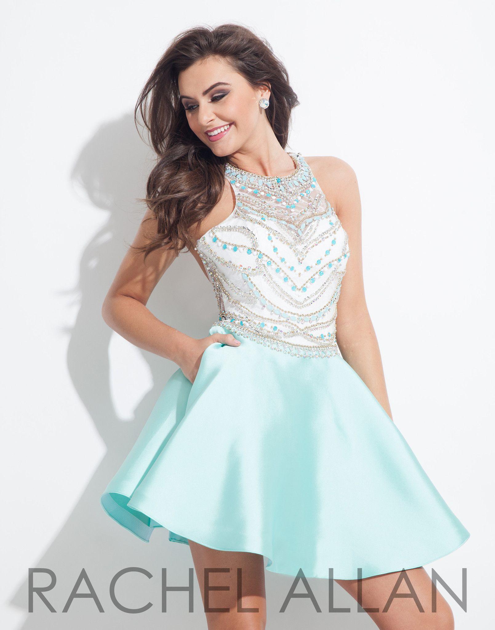 Rachel allan mint homecoming dress rachel allen pinterest