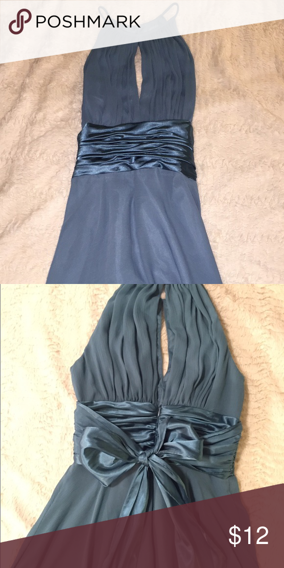 Beautiful baby blue dress Evening dress with tasteful slit down the front and back. Dresses Prom