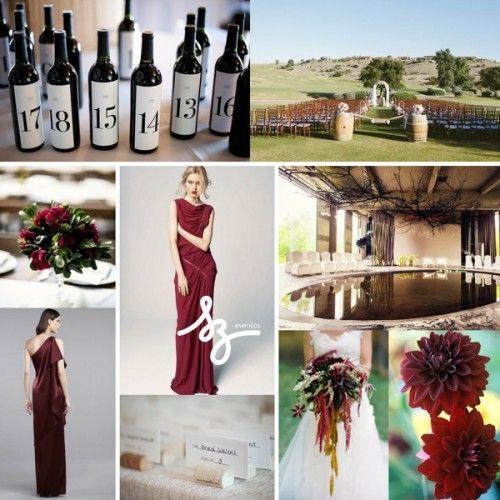 bodas color vino | ... de inspiración para una boda sofisticada con detalles en color vino