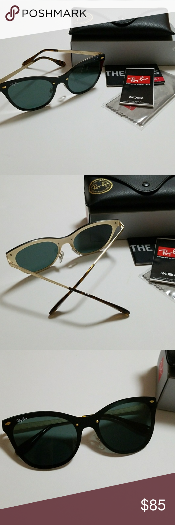 302d13eded0 Ray ban blaze cat- eye .Flat lens RB 3580 N Ray ban Blaze cat eye Flat Lens  color gold