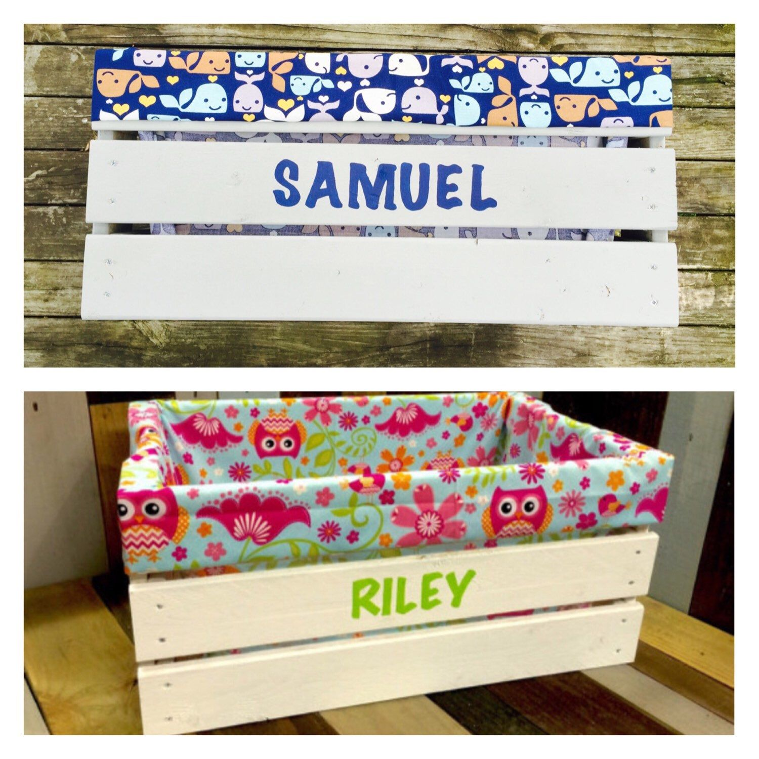 Childrens Toy Box  Toy Storage  Personalized Toy Box
