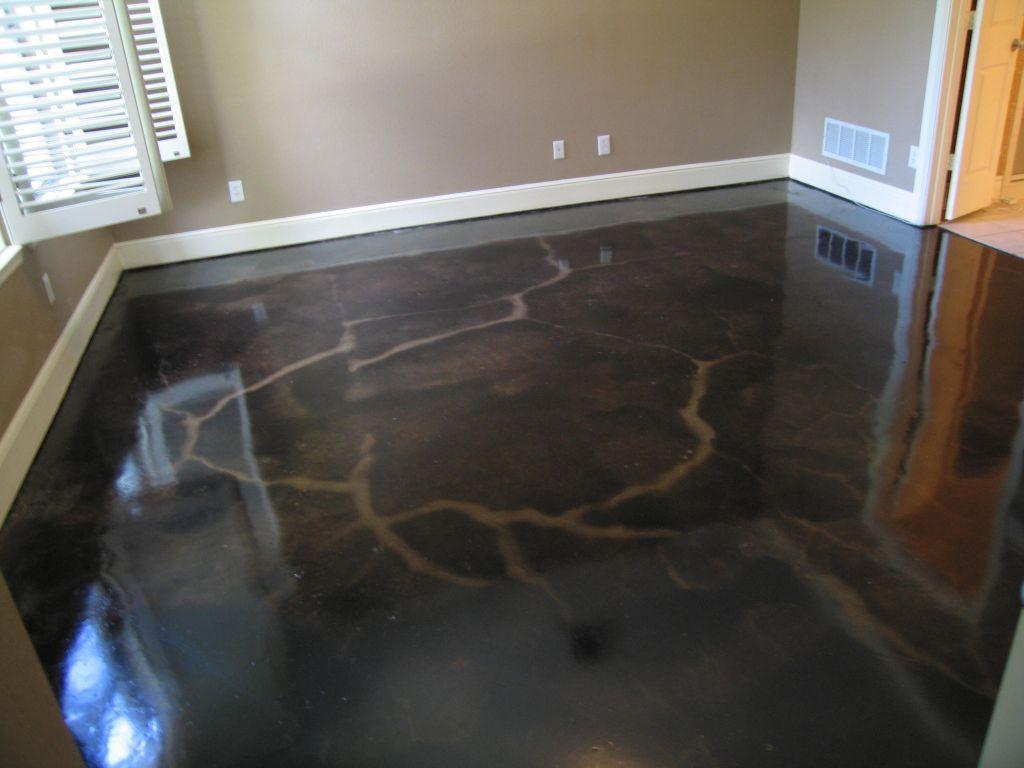 blue concrete floor | create comfortable indoor and outdoor living