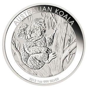 Australian Koala 1 Ounce Silver 2013 Silver Coins Bullion Coins Silver Bullion Coins