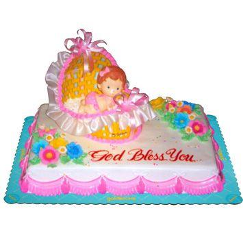 baptismal cake from Goldilocks Emas Baptism Party Ideas