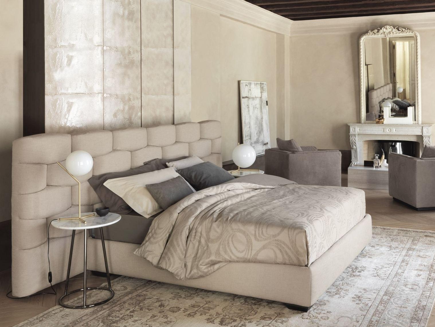 MAJAL Cama con cabecera tapizada by Flou diseño Carlo Colombo ...