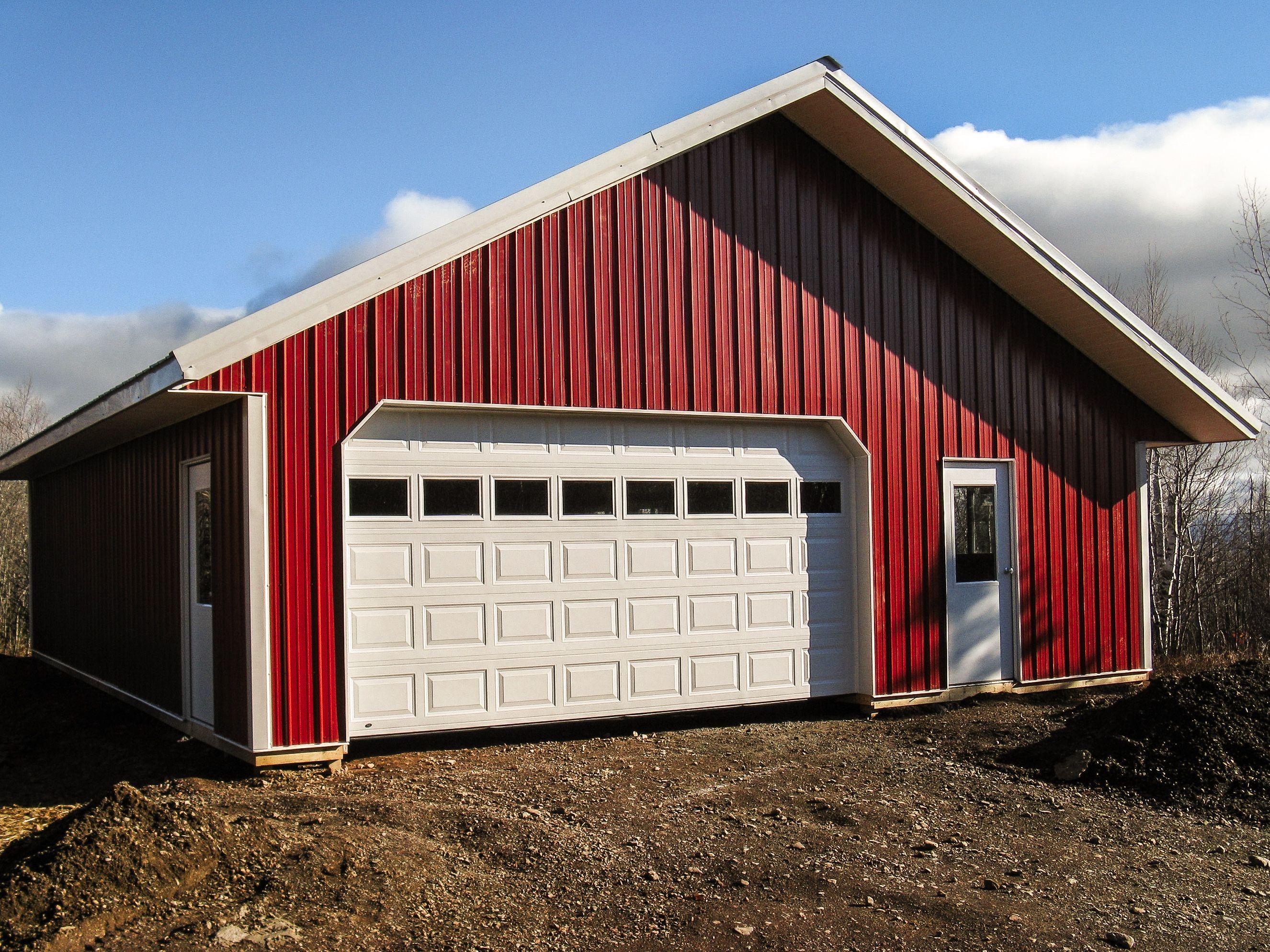 Pole Barn Garage Building a pole barn, Pole buildings