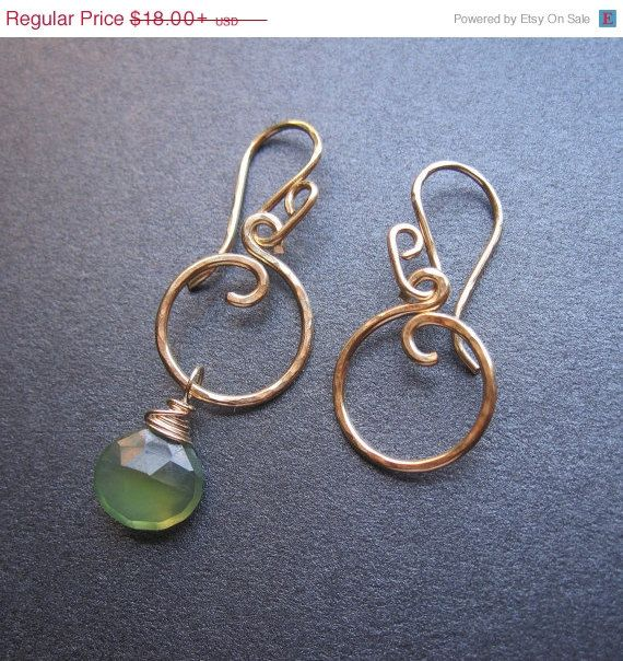 Interchangeable Earrings MINI Circle Hammered di SwapTheDrops