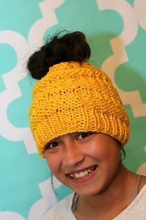 115b97aad5273 Ravelry  Messy Bun Hat pattern by Isela Phelps  in my Google Drive ...