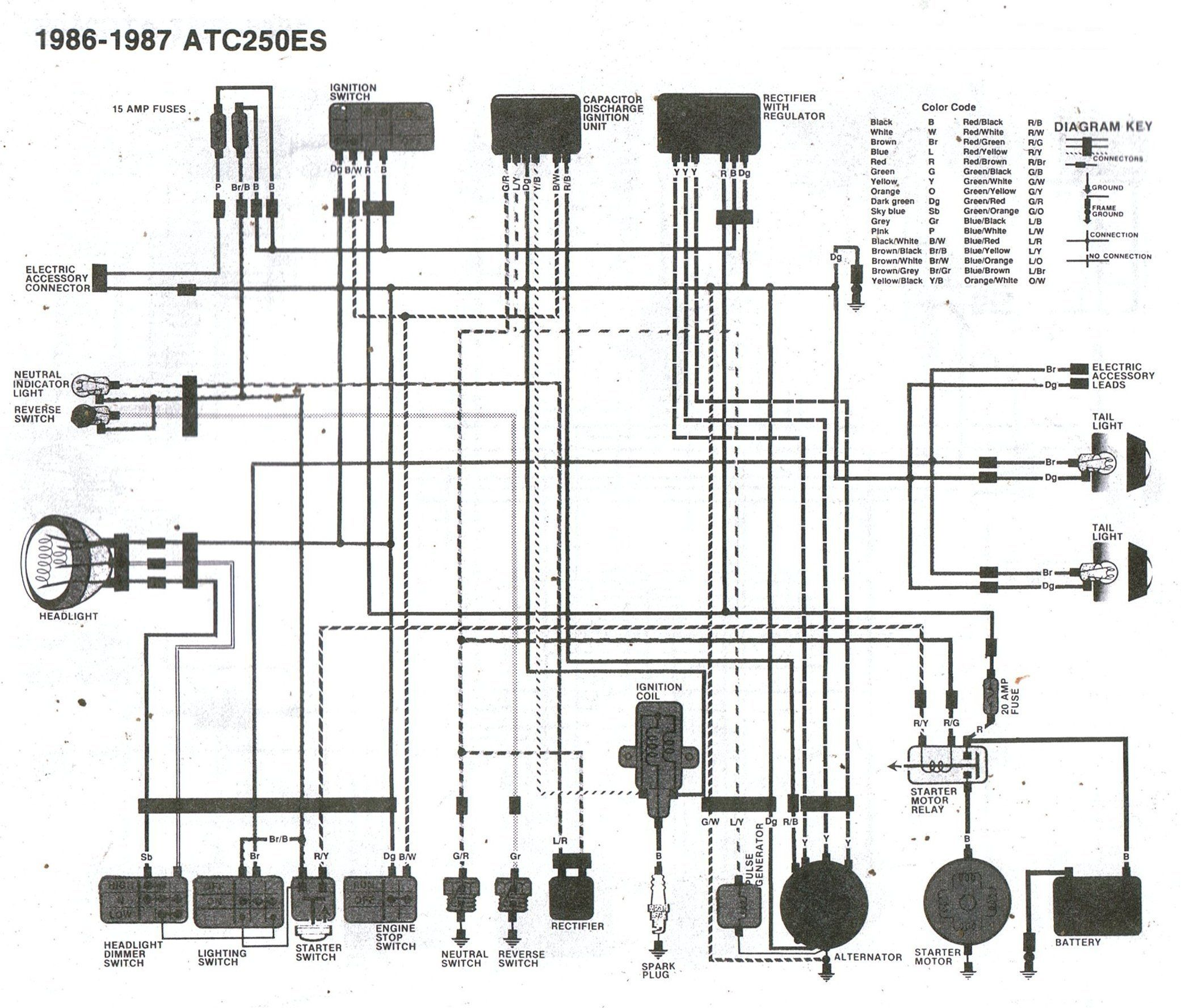 Honda 250 And 300 Model C72c77 Electrical Wiring Diagram