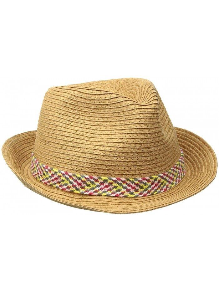 7e3f63df00876 Women s Sentimiento Straw Fedora Hat - Natural - CI12M2G60L9 ...