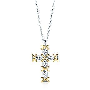 Schlumberger ten stone cross pendant 18k gold stone and pendants jean schlumberger ten stone cross pendant in 18k gold with diamonds aloadofball Image collections