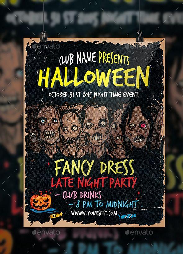 Halloween Zombie Flyer | Halloween zombie, Event flyers and Flyer ...