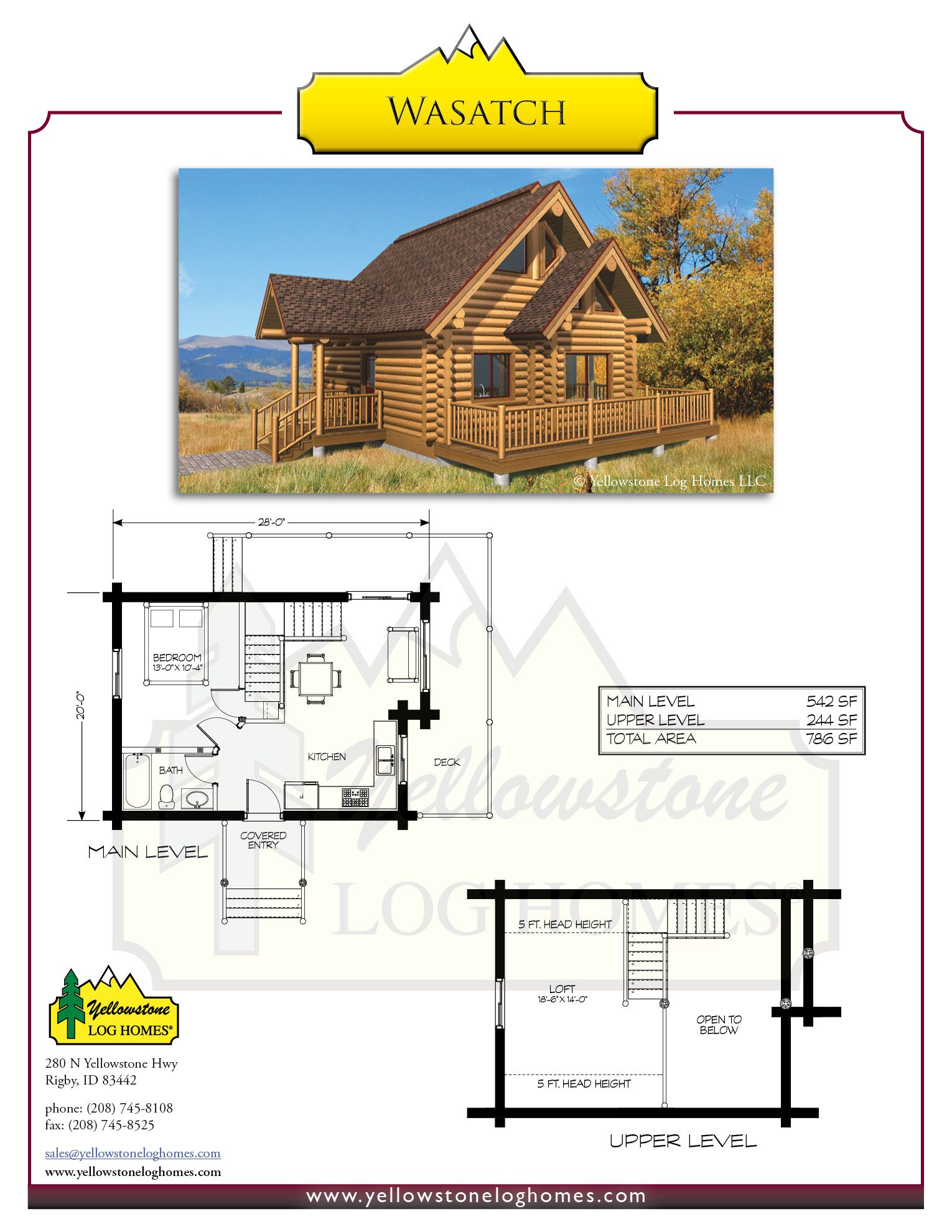Yellowstone Log Homes | Wasatch Plan | Homestead cabin ideas ...