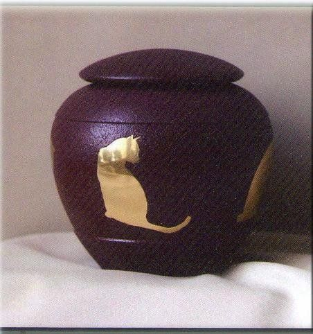 Ever My Pet Sienna Inlaid Brass Cat Pet Urn ** Click image to review more details.