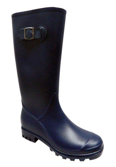 Botas Lluvia Tacon Mujer Dark Heel Bottplie Negro Glossy