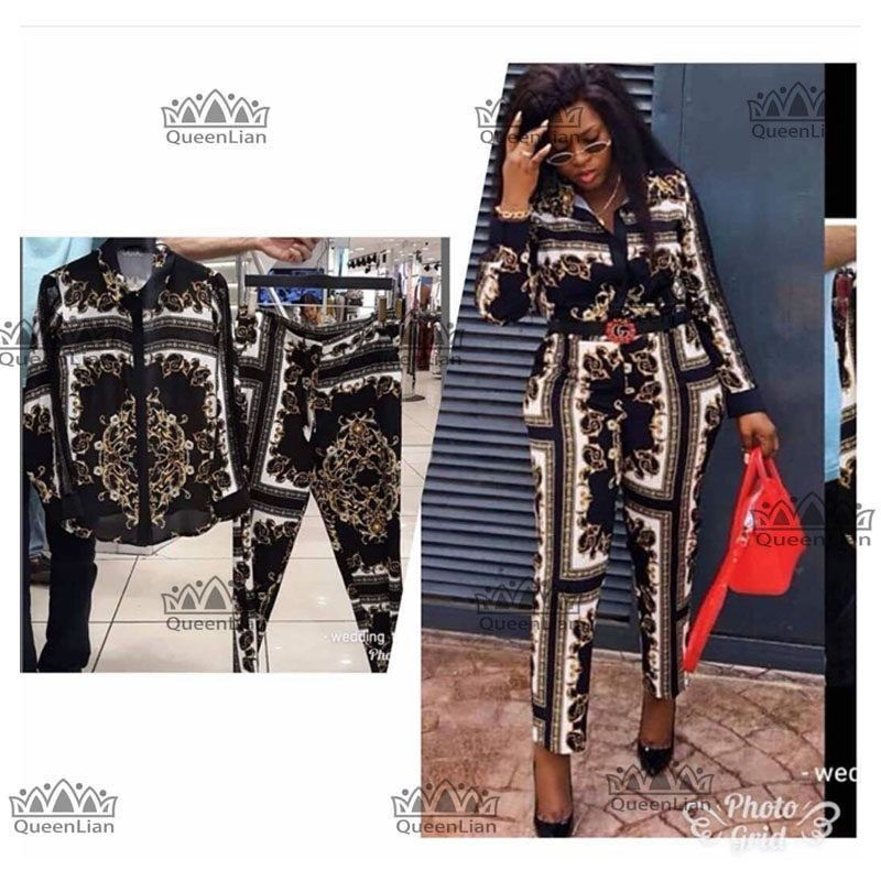 124f2847923 2018 nuevo de moda (L-XXXXL Africana ropa para dama Dashiki Top y pantalones