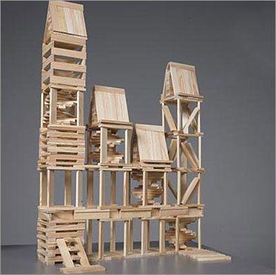 Kapla: building   Houten blokken, Bouw, Gebouwen