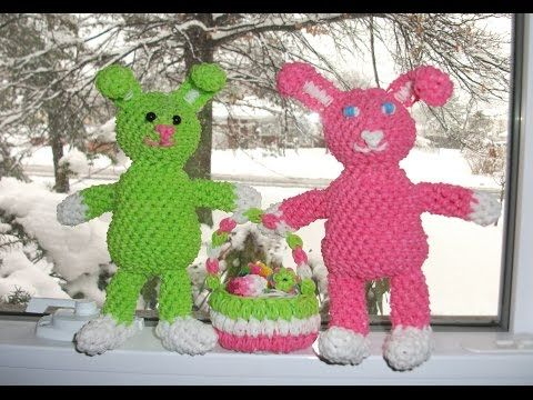 Amigurumi Loom Patterns : New easter bunny rabbit loomigurumi amigurumi rainbow loom