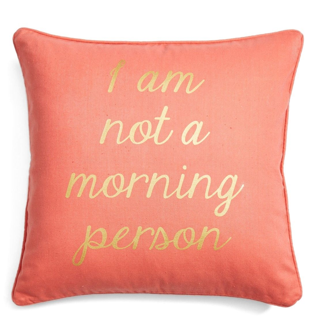 Coral Bed Throw Pillows : Let this pretty coral pillow do the talking on mornings when getting out of bed is simply out of ...