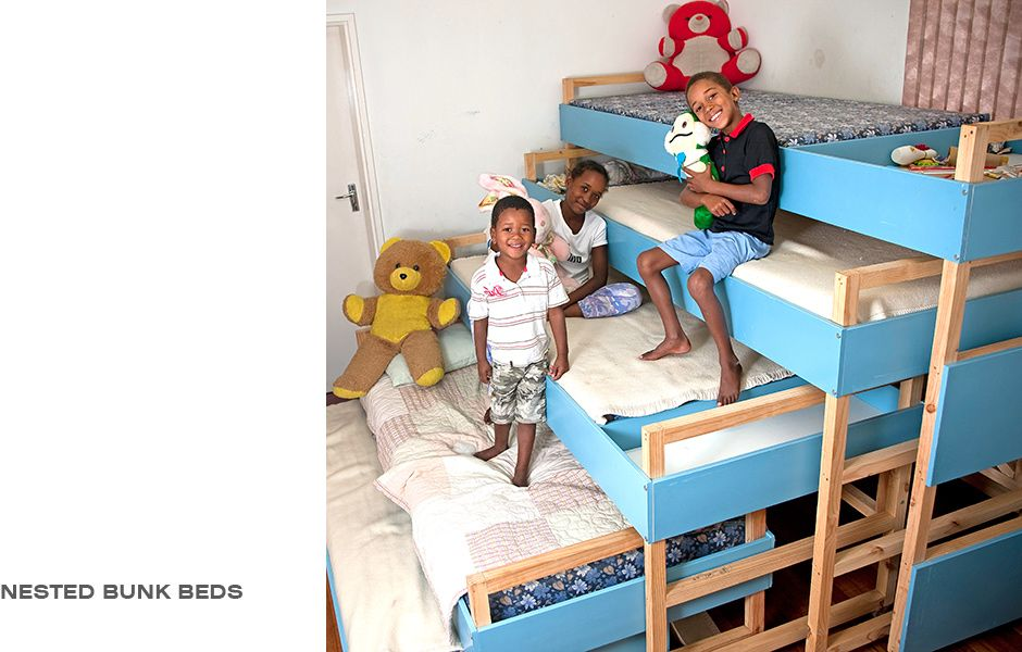 Best Tsai Design Studio Nested Bunk Beds Bed Diy Bunk Bed 400 x 300