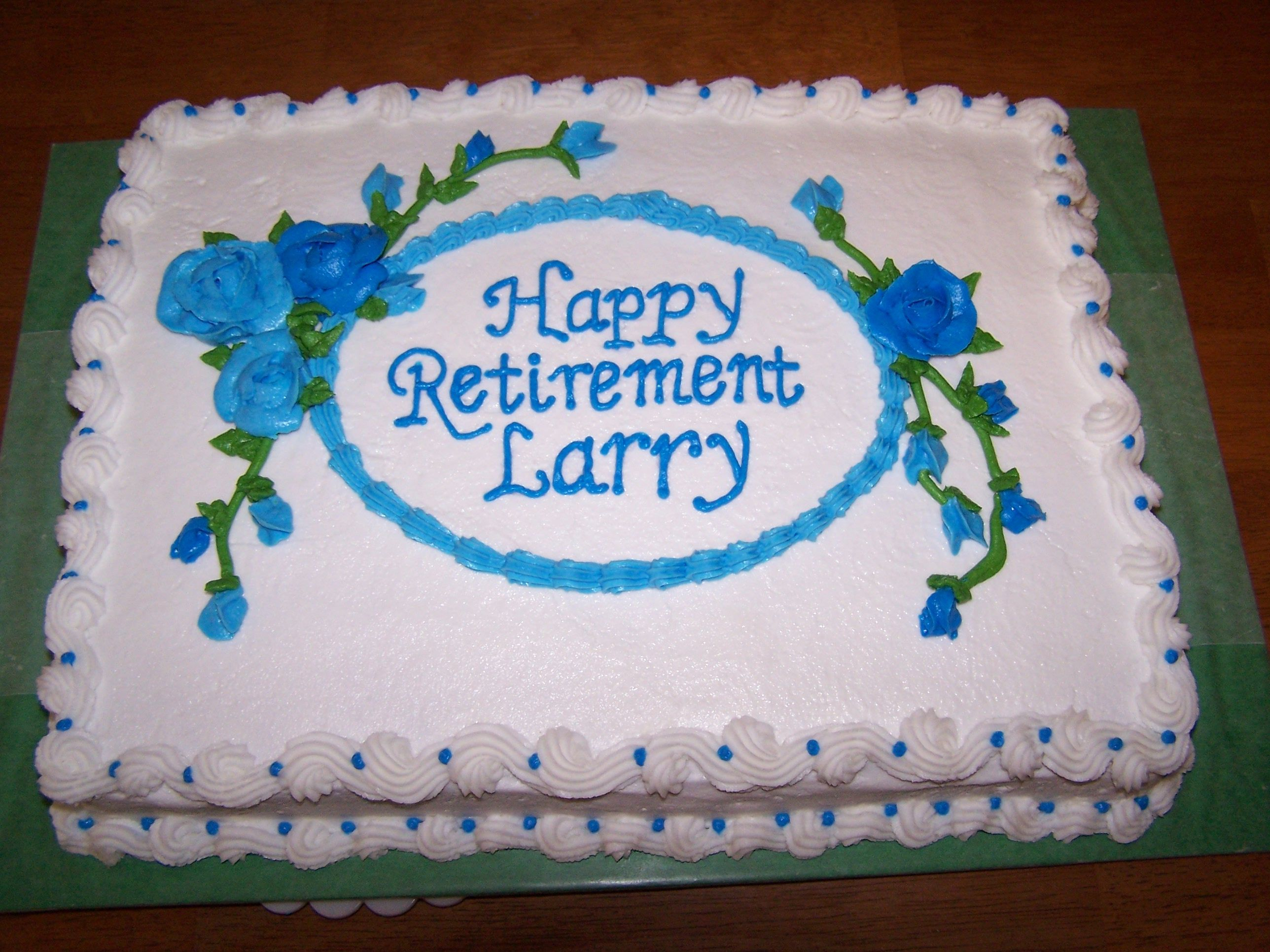 A retirement cake i made for my husbands uncle something
