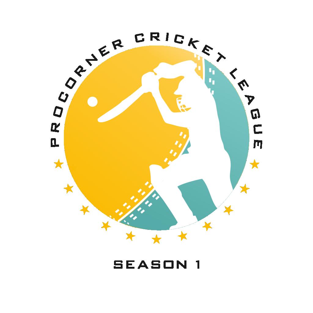 PROCORNER CRICKET LEAGUE Logo Design logotype design