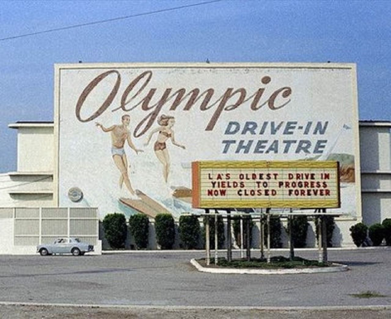 The Olympic DriveIn Theater at Olympic and Bundy in West