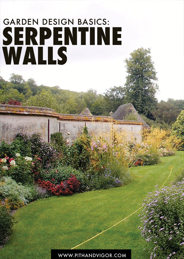 garden design basics serpentine walls - Garden Design Basics