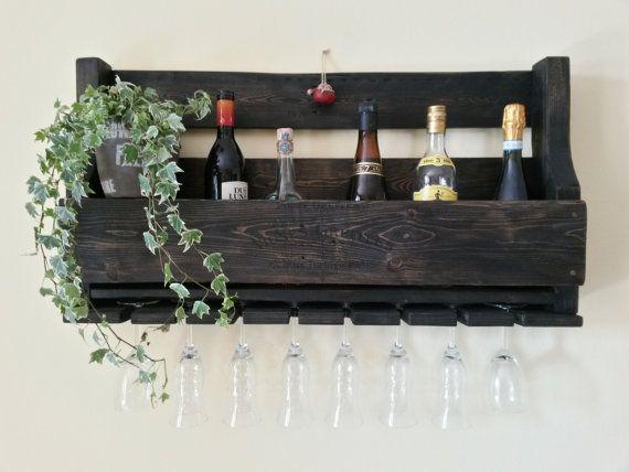 Cantinetta mensola da parete porta bottiglie porta for Porta vino fai da te