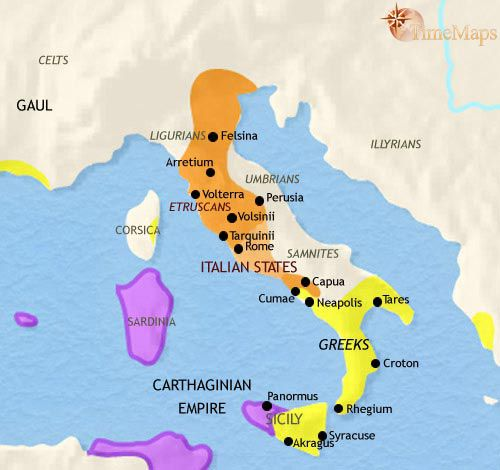 Italy ca 500 bce by 700 bce when italy first appears in greek history map of italy 500 bc mystery of history volume lesson 70 gumiabroncs