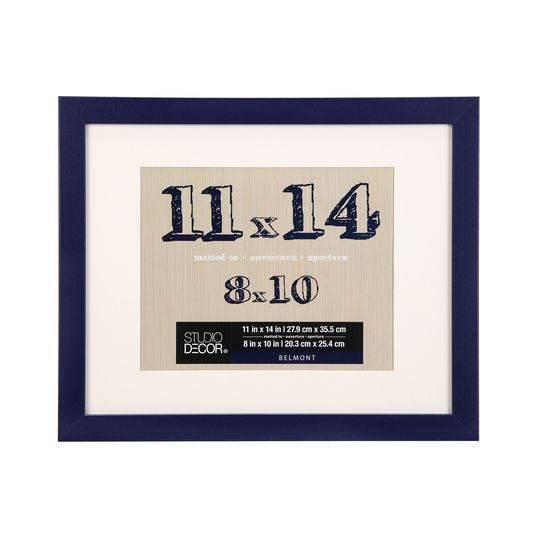 Navy Belmont Tabletop Frame With Mat By Studio Decor 11 X 14 Studio Decor Family Gallery Wall Frame