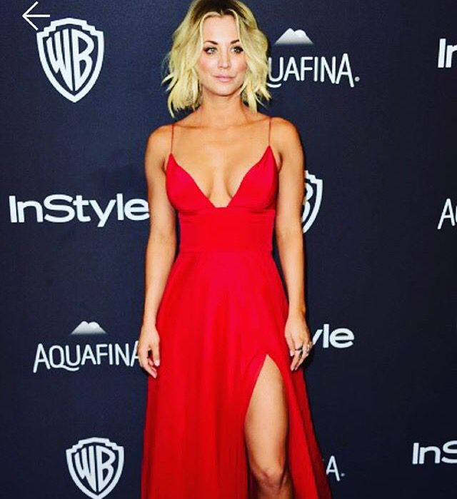 Kaley Cuoco | Red evening gowns, Dresses, Nice dresses