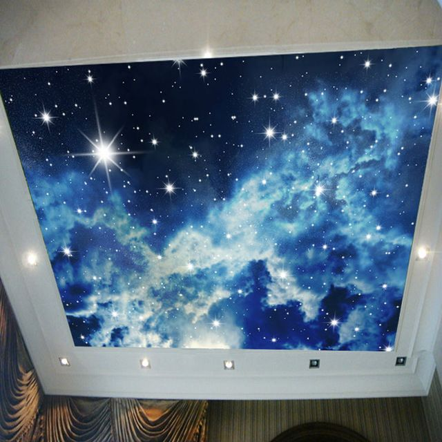 Galaxy Starry Sky Photo Wallpaper 3d View Wall Mural Brilliant Wallpaper Boys Kids Girls Room