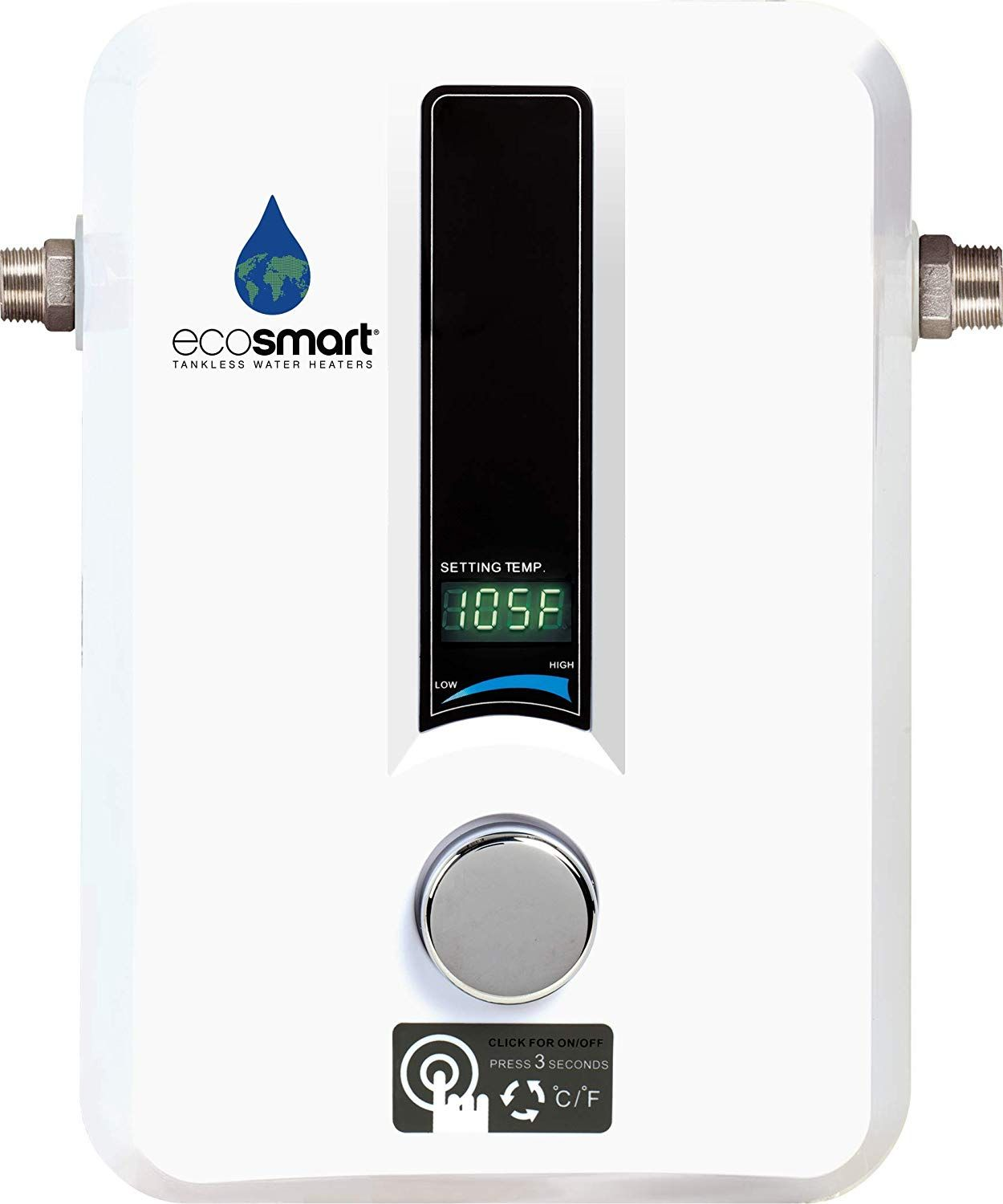 Ecosmart Eco 11 Electric Tankless Water Heater 13kw At 240 Volts With Patented Self Modulating Technology Instant Hot Water Heater Amazon C Etc In 2019