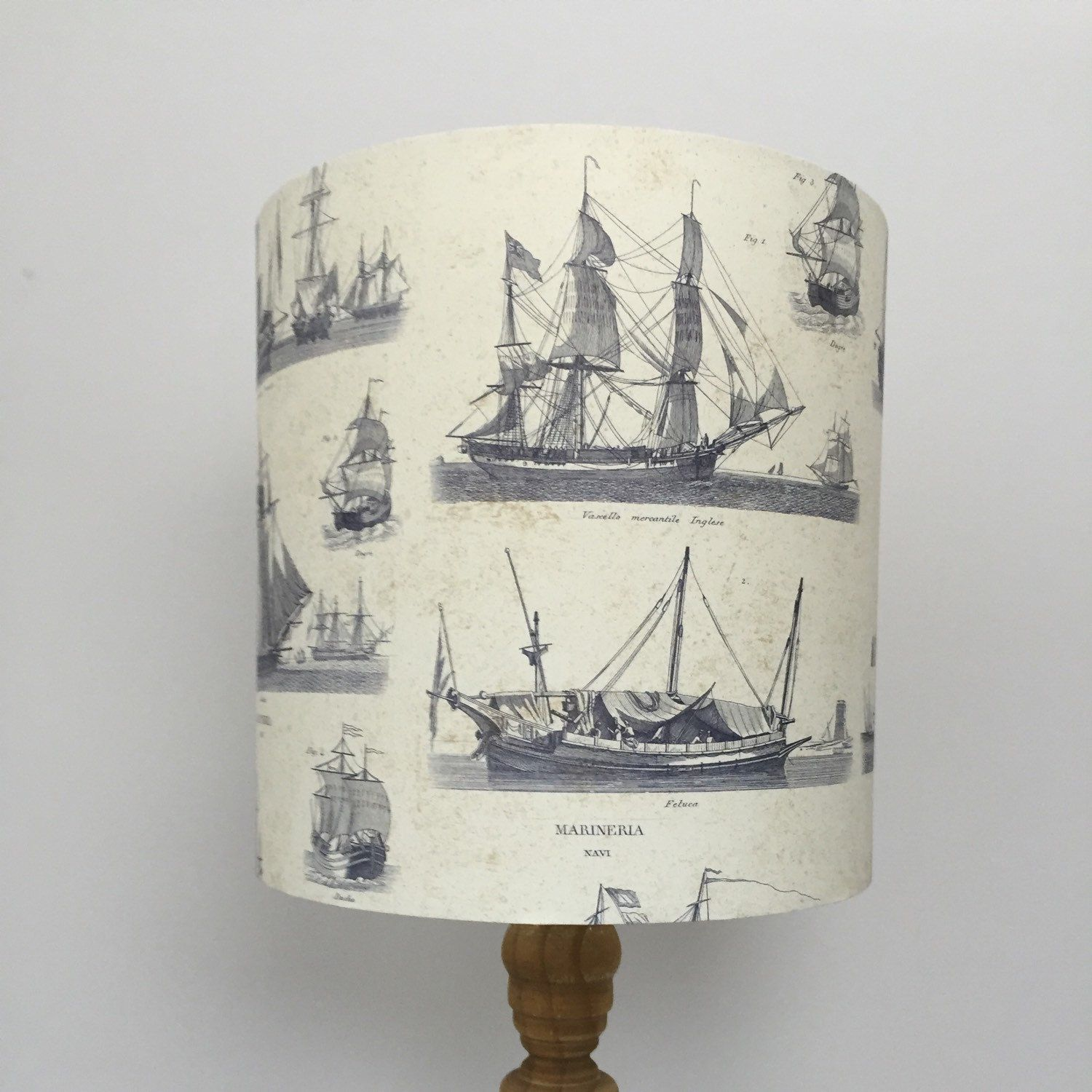 An ideal gift for Fathers Day, this Vintage Ship paper shade would look perfect in the office or study.