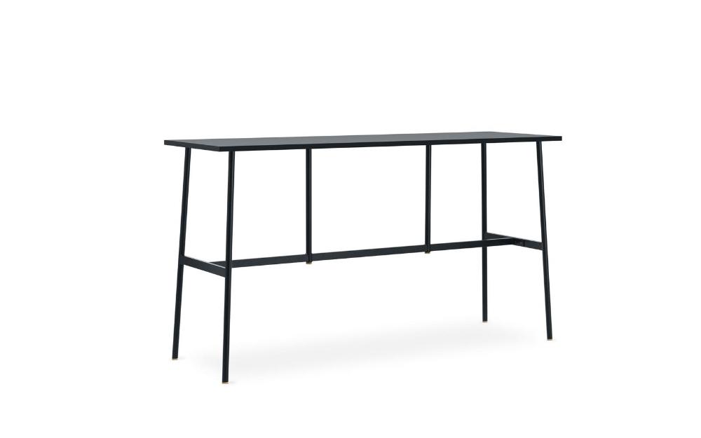 Union Bar Table 190 X 60 Cm X H105 5 Cm Black Scandinavian Furniture Design Table Bar Table