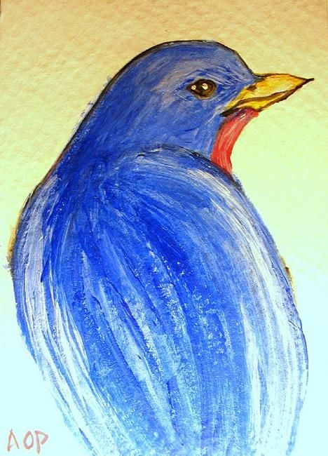 Easy Watercolor Paintings   ... settled upon her watercolor painting, 'Resplendent Blue