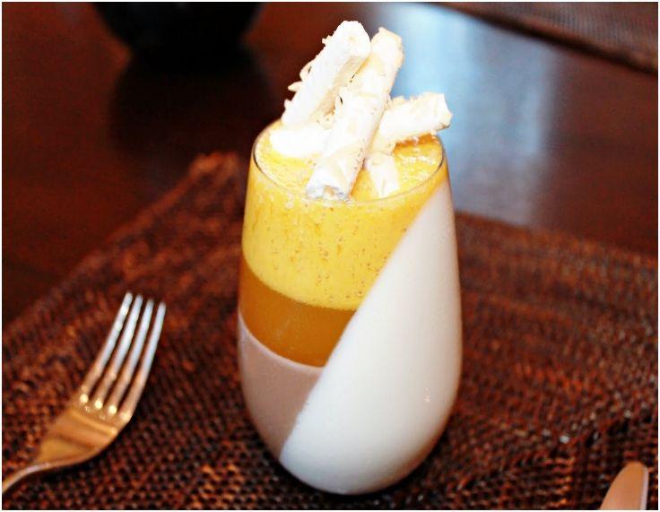 Coconut Milk Chocolate And Mango Passion Fruit Verrine Panna Cotta Recipe