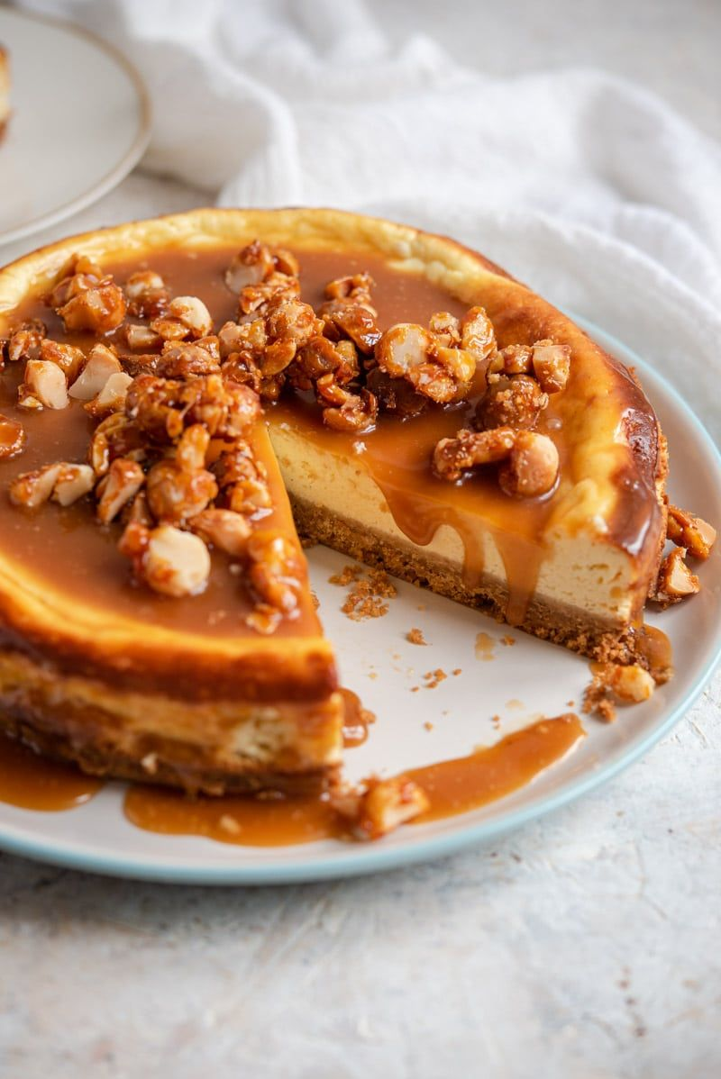 This Caramel Cheesecake Is Incredibly Easy To Make And Will Not Disappoint It S Got A Fluffy But Creamy Nut Dessert Cheesecake Bar Recipes Cheesecake Recipes
