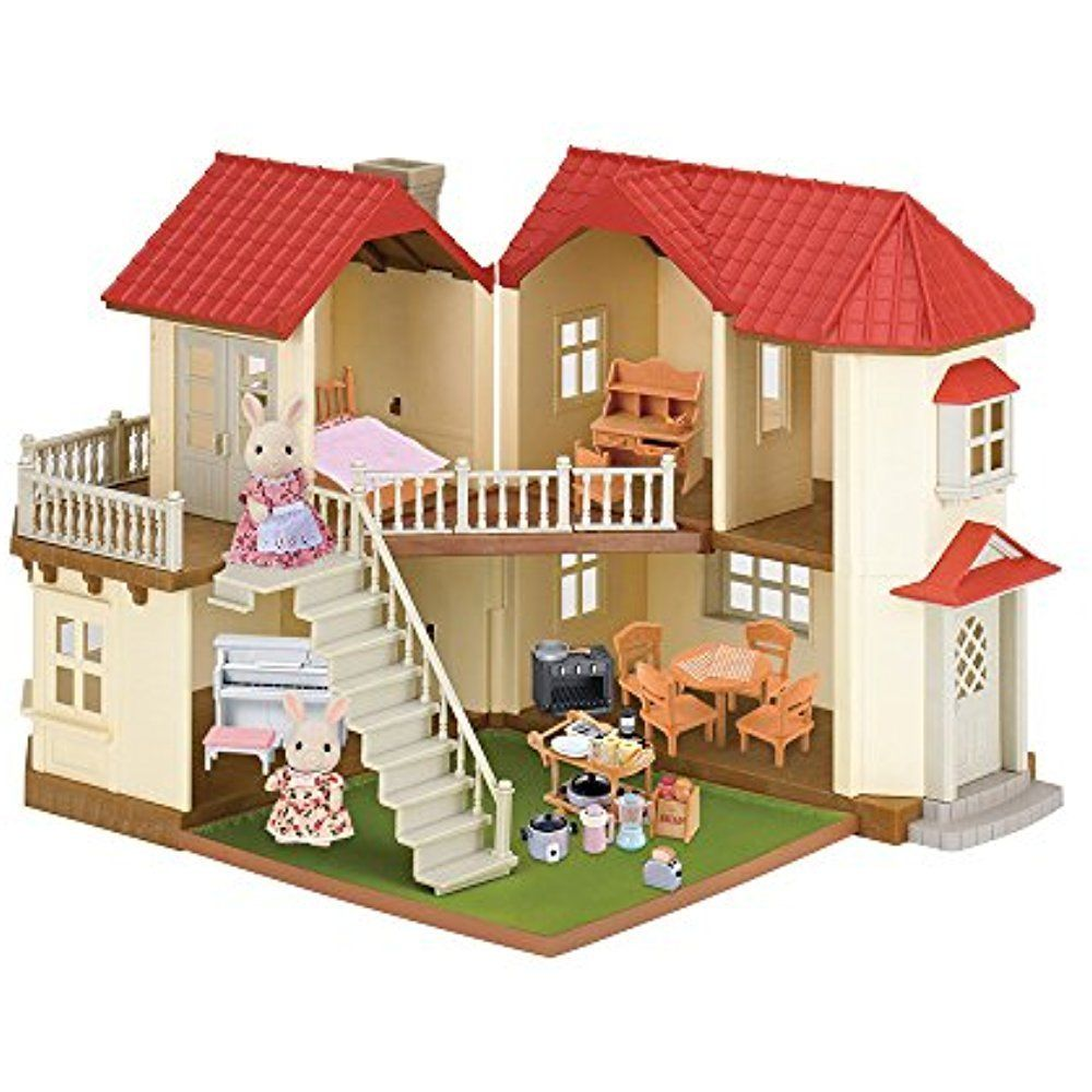 Calico Critters Luxury Townhome Gift Set 50 Pieces