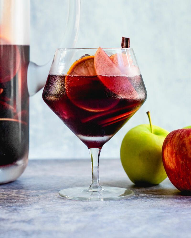 Apple Sangria Spanish Style A Couple Cooks Recipe In 2020 Apple Sangria Sangria Fall Apple Recipes